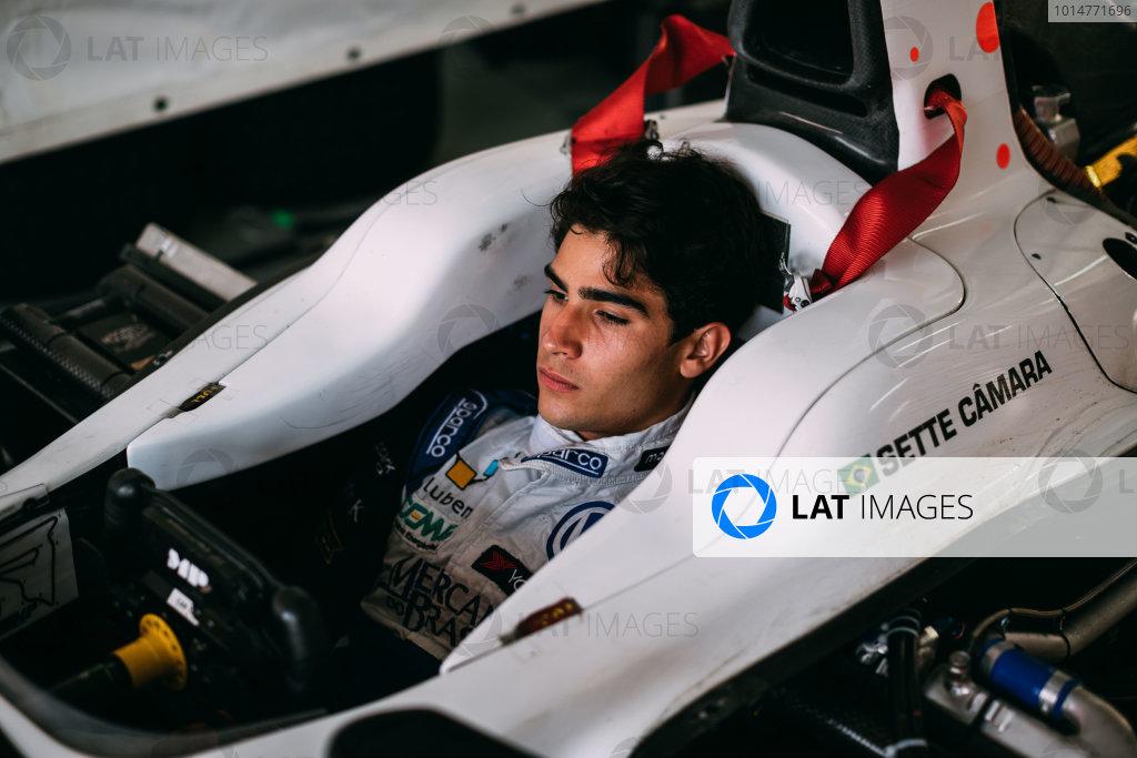 Bahrain International Circuit, Sakhir, Bahrain. Wednesday 29 March 2017 Sergio Sette Camara (BRA) MP Motorsport  Photo: Malcolm Griffiths/FIA Formpula 2 ref: Digital Image MALC6100