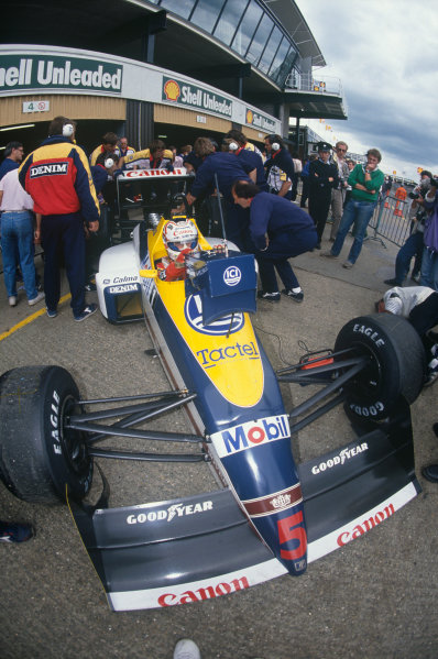 Silverstone, England. 8th - 10th July 1988.Nigel Mansell (Williams FW12-Judd), 2nd position, action.World Copyright: LAT Photographic.Ref:  88GB