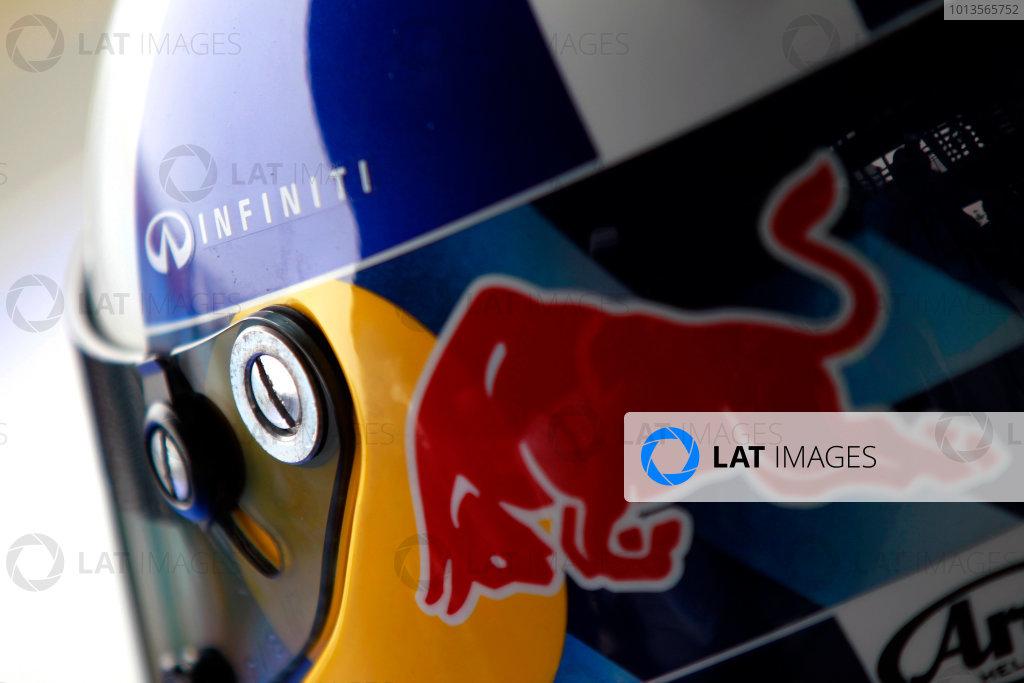 Albert Park, Melbourne, Australia24th March 2011.Sebastian Vettel, Red Bull Racing RB7 Renault helmetWorld Copyright: Charles Coates/LAT Photographicref: Digital Image _X5J5763