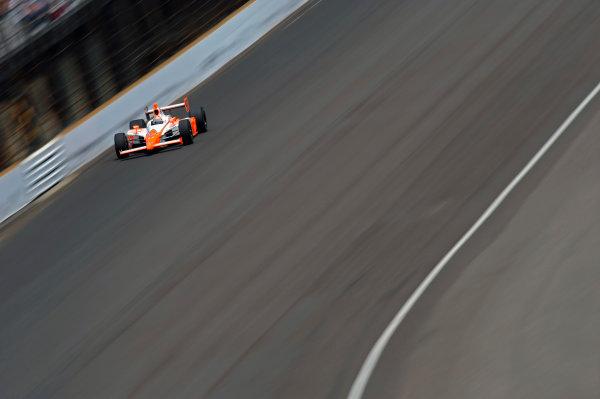 29 May, 2011, Indianapolis, Indiana, USAEventual winner Dan Wheldon (#98) races into turn 4.©2011, F. Peirce WilliamsLAT Photo USA
