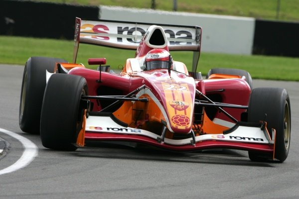 Enrico Toccacelo (ITA) AS Roma.  Superleague Formula Testing, Donington, England. 21 August 2008.
