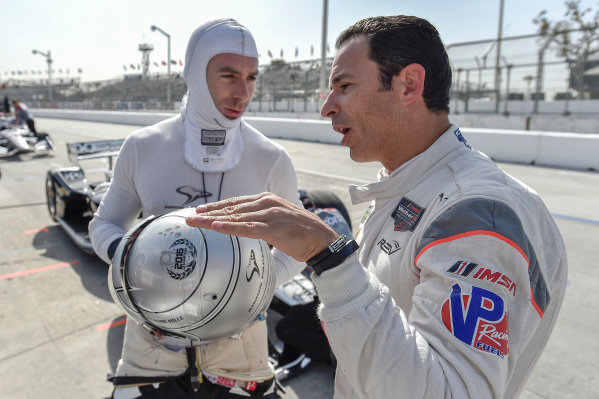 Simon Pagenaud, Team Penske Chevrolet, Helio Castroneves