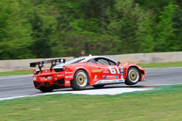 18-20 April, 2013, Braselton, Georgia USA The #69 Ferrari of Emil Assentato and Anthony Lazzaro is shown in action during practice. ©2013, R D. Ethan LAT Photo USA