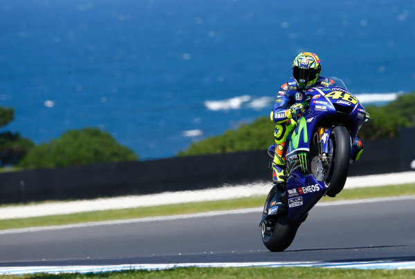 2017 MotoGP Championship - Round 16 Phillip Island, Australia. Friday 20 October 2017 Valentino Rossi, Yamaha Factory Racing World Copyright: Gold and Goose / LAT Images ref: Digital Image 698260