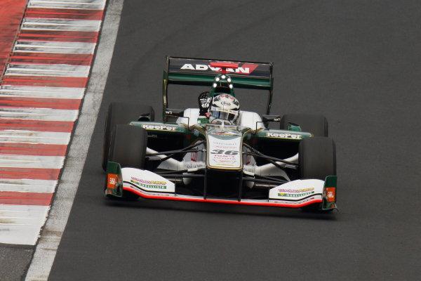 2017 Japanese Super Formula. Okayama, Japan. 27th - 28th May 2017. Rd 2. Race 1 Winner Andre Lotterer ( #36 VANTELIN KOWA TOM?S SF14 ) action  World Copyright: Yasushi Ishihara / LAT Images. Ref: 2017SF_Rd2_Race1_005