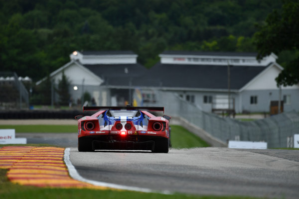 IMSA WeatherTech SportsCar Championship Continental Tire Road Race Showcase Road America, Elkhart Lake, WI USA Friday 4 August 2017 66, Ford, Ford GT, GTLM, Joey Hand, Dirk Muller World Copyright: Richard Dole LAT Images ref: Digital Image DSC_6136