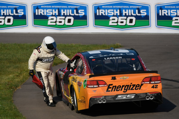 Monster Energy NASCAR Cup Series FireKeepers Casino 400 Michigan International Speedway, Brooklyn, MI USA Sunday 18 June 2017 Kyle Larson, Chip Ganassi Racing, Cars 3 Target Chevrolet SS World Copyright: Logan Whitton LAT Images