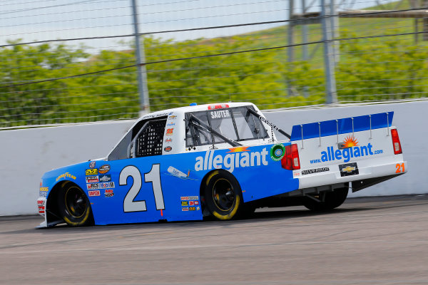 NASCAR Camping World Truck Series Drivin? For Linemen 200 Gateway Motorsports Park, Madison, IL USA Saturday 17 June 2017 Johnny Sauter, Allegiant Airlines Chevrolet Silverado World Copyright: Russell LaBounty LAT Images