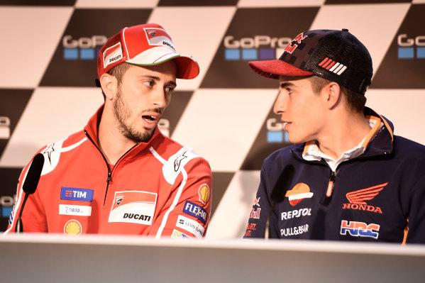 2017 MotoGP Championship - Round 9 Sachsenring, Germany Thursday 29 June 2017 Marc Marquez, Repsol Honda Team, Andrea Dovizioso, Ducati Team World Copyright: Gareth Harford/LAT Images ref: Digital Image 680864