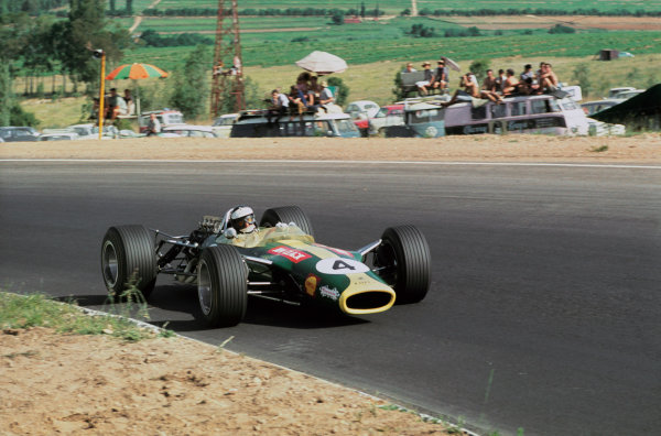 Kyalami, South Africa. 30/12/67-1/1/1968. Jim Clark (Lotus 49 Ford) 1st position. His last Grand Prix win. Ref-68 SA 03. World Copyright - LAT Photographic