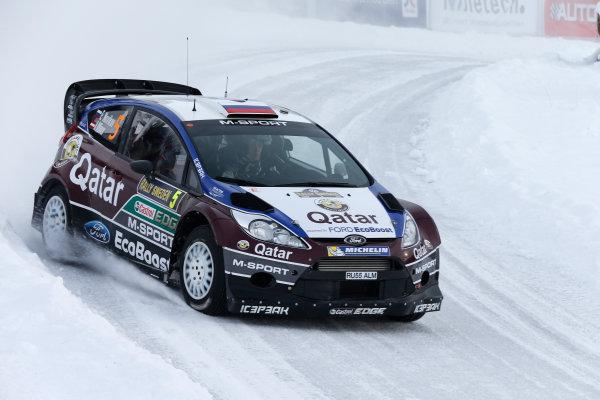 2013 FIA World Rally Championship Round 02-Rally Sweden 07-10 Februari 2013. Evgeny Novikov, Ford WRC, Action.. Worldwide Copyright: McKlein/LAT