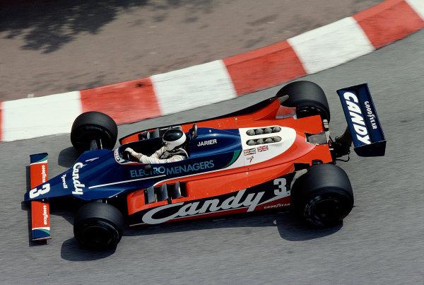 1980 Monaco Grand Prix.Monte Carlo, Monaco.15-18 May 1980.Jean-Pierre Jarier (Tyrrell 010 Ford).Ref-80 MON 42.World Copyright - LAT Photographic