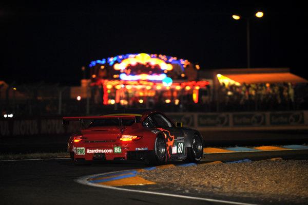 Circuit de La Sarthe, Le Mans, France. 13th - 17th June 2012. Thursday QualifyingJorg Bergmeister/Patrick Long/Marco Holzer, Flying Lizard Motorsports, No 80 Porsche 911 RSR (997). Photo: Jeff Bloxham/LAT Photographicref: Digital Image DSC_2009