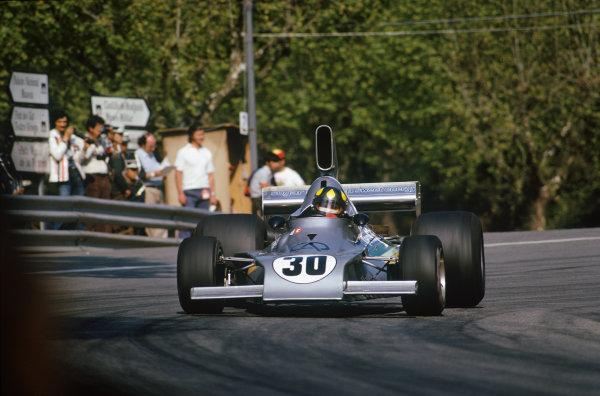 Montjuich Park, Barcelona, Spain. 25-27 April 1975. Wilson Fittipaldi, Copersucar FD02 Ford. Ref: 75ESP10. World Copyright - LAT Photographic