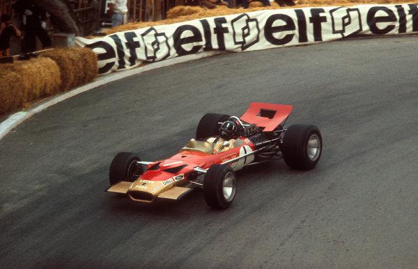 1969 Monaco Grand Prix.Monte Carlo, Monaco.15-18 May 1969.Graham Hill (Lotus 49B Ford) 1st position.Ref-69 MON 18.World Copyright - LAT Photographic
