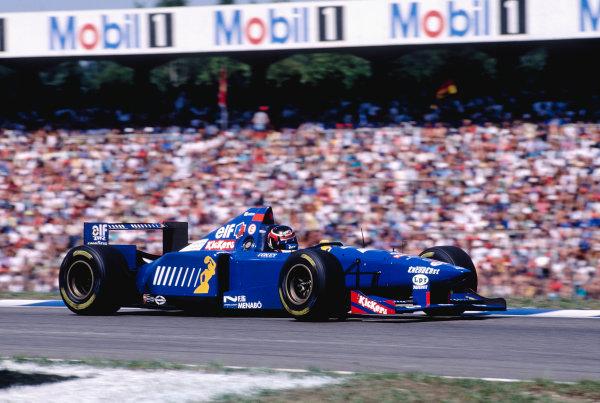 1995 German Grand Prix.Hockenheim, Germany. 28-30 July 1995.Aguri Suzuki (Ligier JS41 Mugen Honda) 6th position.Ref-95 GER 39.World Copyright - LAT Photographic