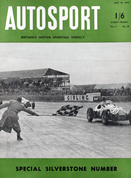 Cover of Autosport magazine, 16th May 1952
