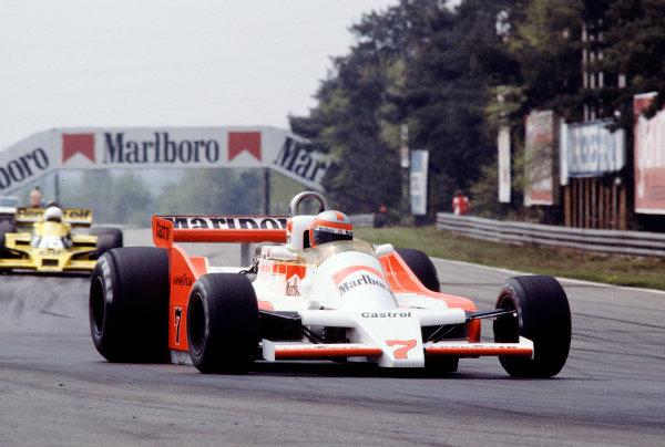 1979 Belgian Grand Prix.Zolder, Belgium.11-13 May 1979.John Watson (McLaren M28 Ford) 6th position.Ref-79 BEL 23.World Copyright - LAT Photographic