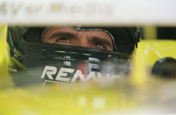 1998 British Grand Prix.Silverstone, England.10-12 July 1998.Damon Hill (Jordan Mugen Honda).World Copyright - Etherington/LAT Photographic