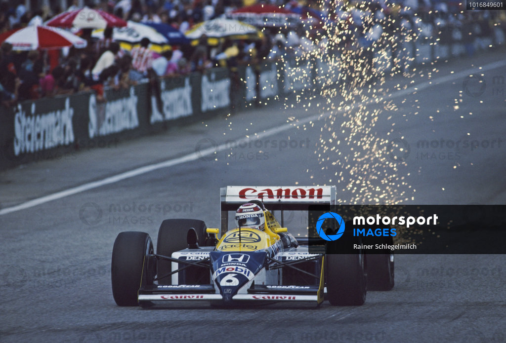 Nelson Piquet, Williams FW11B Honda.