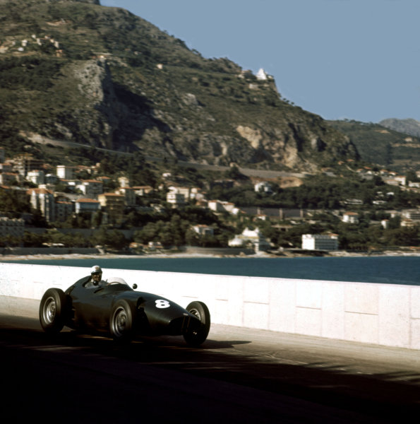 1958 Monaco Grand Prix.Monte Carlo, Monaco.15-18 May 1958.Harry Schell (BRM P25) 5th position.Ref-3/0012.World Copyright - LAT Photographic
