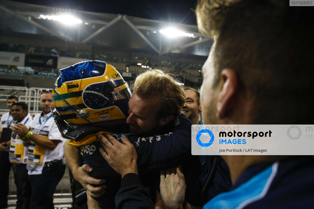 Sergio Sette Camara (BRA, DAMS), celebrates feature race victory in parc ferme
