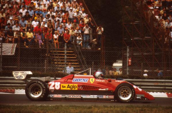 Monza, Italy.10-12 September 1982.Mario Andretti (Ferrari 126C2) 3rd position.Ref-82 ITA 02.World Copyright - LAT Photographic
