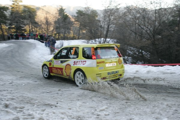 2005 FIA World Rally ChampionshipRound 1, Monte Carlo Rally. 20th - 23rd January 2005.Per-Gunnar Andersson (Suzuki Ignis S1600), action.World Copyright: McKlein/LAT Photographic.ref: Digital image.