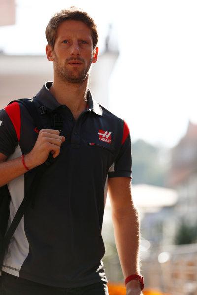 Autodromo Hermanos Rodriguez, Mexico City, Mexico. Thursday 26 October 2017. Romain Grosjean, Haas F1.  World Copyright: Sam Bloxham/LAT Images  ref: Digital Image _W6I8731