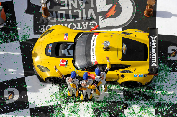 22-25 January, 2015, Daytona Beach, Florida USA In Victory Lane. 3, Chevrolet, Corvette C7.R, GTLM, Jan Magnussen, Antonio Garcia, Ryan Briscoe ?2015, F. Peirce Williams LAT Photo USA