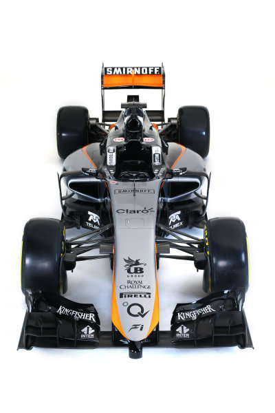 Force India VJM08 Livery Reveal Museo Soumaya, Mexico City, Mexico Wednesday 21 January 2015. World Copyright: Sahara Force India (Copyright Free) ref: Digital Image jm1521ja03