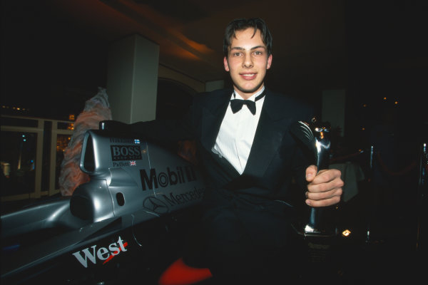 1999 Autosport Awards. Grosvenor House Hotel, Park Lane, London. 5th December 1999.  Gary Paffett wins the Autosport/McLaren Young Driver of the Year Award. World Copyright: LAT Photographic. Ref:  Colour Transparency.