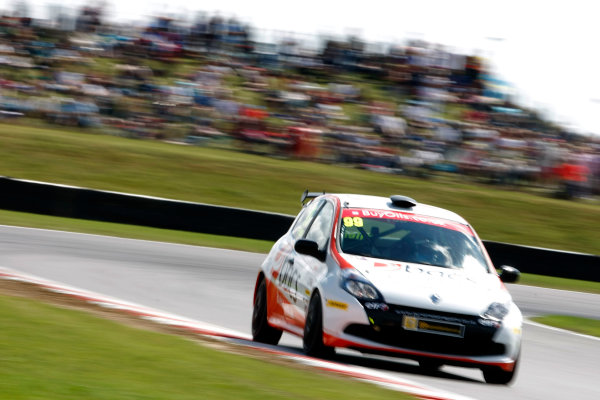 2013 Renault Clio Clup, Snetterton, Norfolk. 2nd - 4th August 2013. Josh Files (GBR) Team Pyro Renault Clio Cup. World Copyright: Ebrey / LAT Photographic.