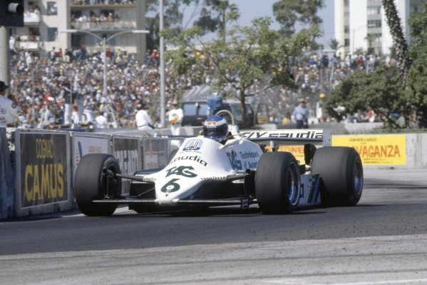 1982 United States Grand Prix West.Long Beach, California, USA. 2-4 April 1982.Keke Rosberg (Williams FW07C-Ford Cosworth), 2nd position.World Copyright: LAT PhotographicRef: 35mm transparency 82LB18