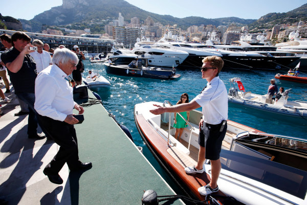 Monte Carlo, Monaco. Saturday 24 May 2014. Bernie Ecclestone, CEO and President, FOM. World Copyright: Charles Coates/LAT Photographic. ref: Digital Image _N7T7539