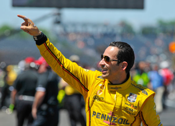 23 May, 2014, Indianapolis, Indiana, USA Helio Castroneves ©2014, Geoffrey M. Miller LAT Photo USA
