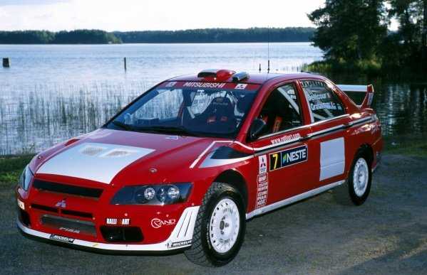 The new Mitsubishi Lancer Evo World Rally Car Step 2.