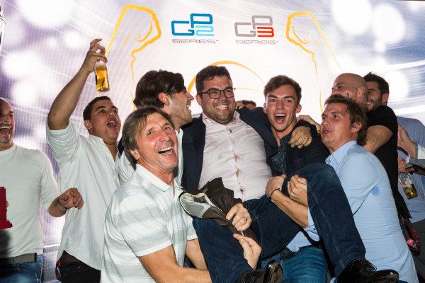2016 GP2/3 Awards Evening. Yas Marina Circuit, Abu Dhabi, United Arab Emirates. Sunday 27 November 2016. Ren? Rosin - Team Manager, PREMA Racing Photo: Sam Bloxham/GP2 Series Media Service/GP3 Series Media Service. ref: Digital Image _SLA9870