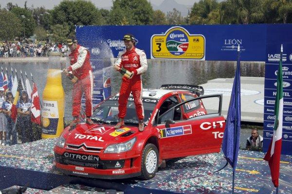 2008 FIA World Rally ChampionshipRound 03Rally Mexico28 February-2 March 2008Sebastien Loeb, Citroen, Podium.Worldwide Copyright: McKlein/LAT