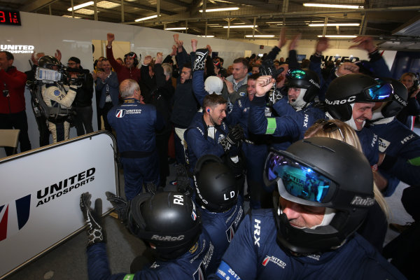 2017 European LeMans Series, Silverstone, 13th-15th April 2017, United Autosports celebrate the win  World Copyright. JEP/LAT Images
