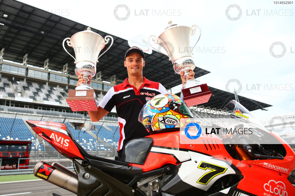 2017 Superbike World Championship - Round 9 Lausitzring, Germany Sunday 20 August 2017 Race winner Chaz Davies, Ducati Team World Copyright: Gold and Goose / LAT Images ref: Digital Image 53627