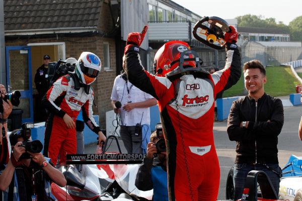 2014 Cooper Tires British F3 Championship, Donington Park, Leicestershire. 13th - 14th September 2014. Hongwei Cao (CHN) Fortec Motorsports Dallara Mercedes. World Copyright: Ebrey / LAT Photographic.