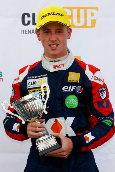 2014 Renault Clio Cup, Knockhill, Scotland. 22nd - 24th August 2014. Ash Hand (GBR) SV Racing with KX Renault Clio Cup. World Copyright: Ebrey / LAT Photographic.