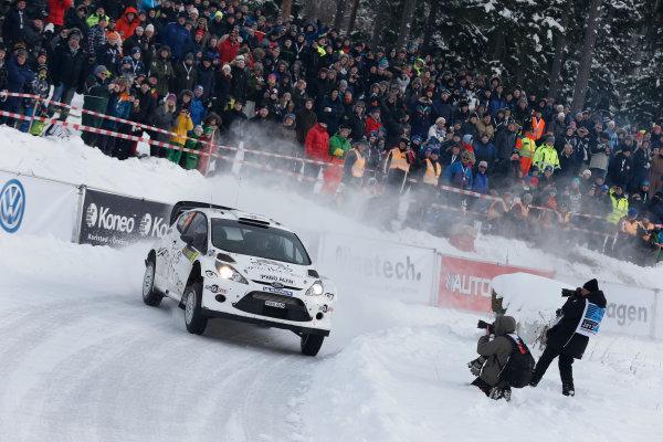 2013 FIA World Rally Championship Round 02-Rally Sweden 07-10 Februari 2013. Henning Solberg, Ford WRC, Action.. Worldwide Copyright: McKlein/LAT