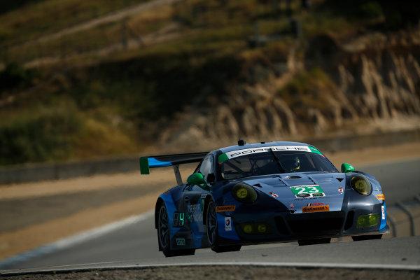 29 April - May 1, 2016, Monterey, California ,  23, Porsche, GT3 R, GTD, Mario Farnbacher, Alex Riberas ?2016, Michael L. Levitt LAT Photo USA