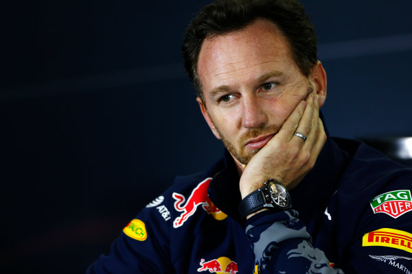 Albert Park, Melbourne, Australia. Friday 18 March 2016. Christian Horner, Team Principal, Red Bull Racing, in the Team Principals Press Conference. World Copyright: Andrew Hone/LAT Photographic ref: Digital Image _ONZ2098