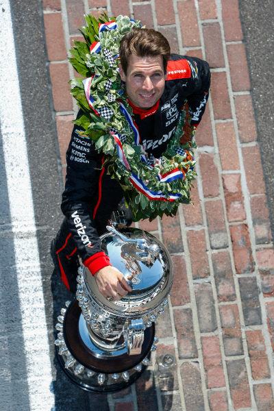 Winner, Will Power, Team Penske Chevrolet, With Borg-Warner TrophyWinner Will Power, Team Penske Chevrolet and team