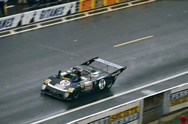 Le Mans, France. 9th - 10th June 1979 Brian Joscelyne/Tony Birchenhough/Nick Mason/Richard Jenvey (Lola T297 Ford), 18th position, action. World Copyright: LAT Photographic Ref: 79LM29.