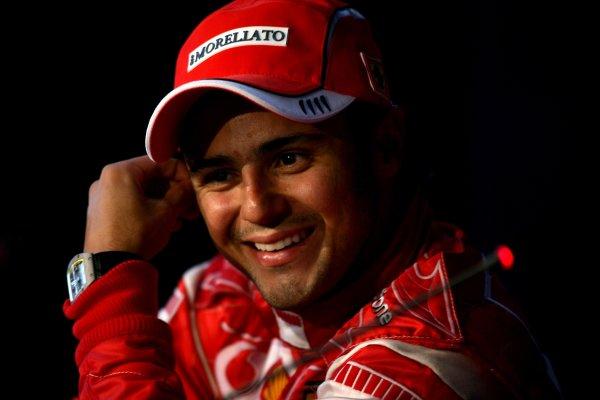 2006 German Grand Prix - Sunday Race Hockenheim, Germany. 27th - 30th July. Felipe Massa, Ferrari 248F1, 2nd position, in the FIA Press conference, portrait. World Copyright: Charles Coates/LAT Photographic ref: Digital Image ZK5Y2511