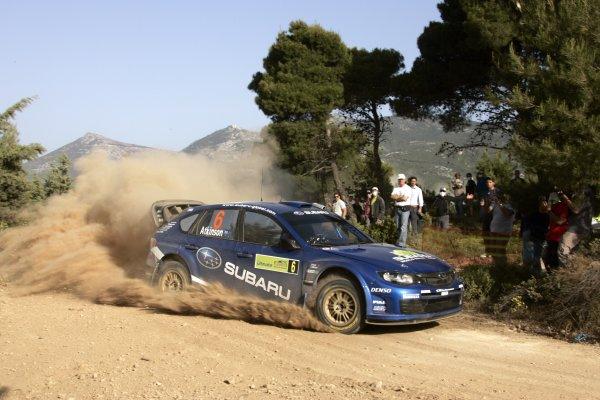 2008 FIA World Rally ChampionshipRound 07Acropolis Rally  200829/5-1/6  2008Chris Atkinson, Subaru WRC, Action